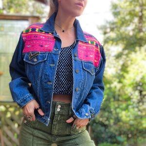 Vintage 90's embroidered denim jacket